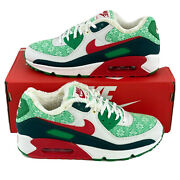 Nike Air Max 90 Nordic Christmas Menand039s Size 8 Sneakers Red Green Dc1607 100
