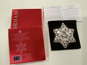 Gorham 45th Edition Annual 2014 Sterling Silver Snowflake Ornament - Mint Cond