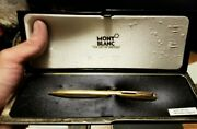 14k Gold W German 715 Lever Activated Ballpoint Pen Rare Post Wwii Euc