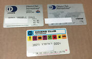 3 Expired Credit Cards For Collectors - Diners Club International 9134
