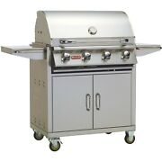 Bull Outlaw 30 Inch Propane Gas Grill On Cart 2021 Model