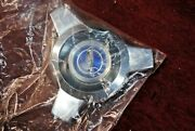 65 66 Mustang New Wire Wheel Center Cap Assembly Blue Center Sealed In Bag