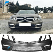 Fits 10-13 Mercedes E Class W212 Amg Style Front Bumper Conversion W/led Drl