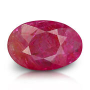 Ruby 4.02 Ct Itlgr Certified Unheated Natural Oval Gem From Myanmar Burma
