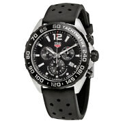 New Tag Heuer Formula 1 Chronograph Black Face Mens Watch Caz1010.ft8024 43mm