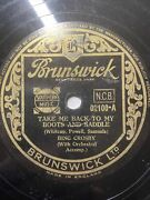 """Bing Crosby Take Me Back To My Boots And Saddle / On Treasure Island 78rpm 10"""""""