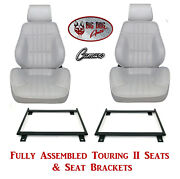 Standard Touring Ii Fully Assembled Seats And Brackets 1977-79 Camaro - Any Color