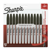 Sharpie Permanent Markers Fine Point Black 12 Count 5 Pack