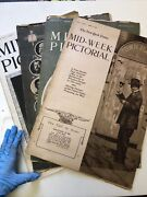 Lot 4 New York Times Mid Week Pictorial Magazine 1915-1917 Wwi War News Photos