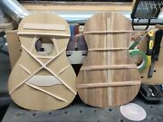 Musical Instrument Custom Parlor Size Handcrafted Acoustic Guitar Tonewood