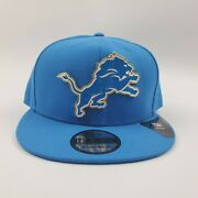Detroit Lions Nfl New Era 9fifty Hat Gilded Front Logo Metal Strapback One Size