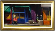 Harry Mccormick Original Oil Painting On Canvas Street Cityscape Signed Artwork