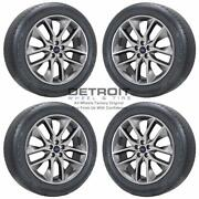 20 Ford Edge Polished Grey Wheels Rims And Tires Oem Set 4 2015-2020 10046