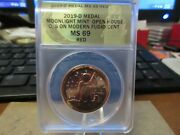 2019 Mmoh O/s Modern Copper Fugio Cent By Daniel Carr Anacs Ms69