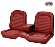 1964-1/2 -1965 Ford Mustang Red Front Bench Seat Upholstery With Seat Foam
