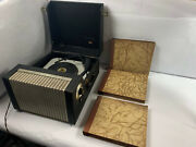 Vintage Webcor Webcor Holiday Ep1753-1 Phonograph Record Player + 18 Records