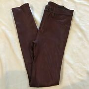 New Auth Rag And Bone Lambskin Leather Sold Out Rare Skinny Stretch Pant Size 23