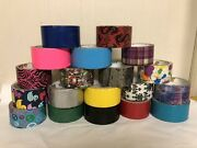 Large Lot 19 Used Duct Tape Rolls Colorful Patterns Camo Chrome Dragons Marvel