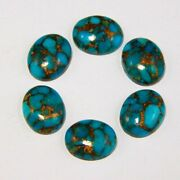 Natural Blue Copper Turquoise 3x5 Mm To 18x25 Mm Oval Cabochon Loose Gemstone
