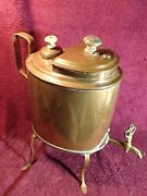 1800-s Antique Very Old Unusual Shape Brass Samovar Probably Russia Russian