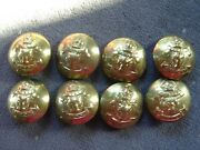 Antique Rnwmp Brass Uniform Buttons Qty. 8 Royal Nw Mounted Police 15/16