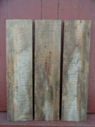 Reclaimed Weathered Maine Barn Board Wood Siding 3pcs 34.5x8.5 Superb Color 3n