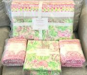 Pottery Barn Kids Lilly Pulitzer Patchwork Full Quilt Sheet Set Shams On Parade
