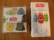 Set Of 2williams Sonoma Star Wars Cookie Cutters And Zoku Ice Pop Molds-r2d2c3po