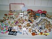 Lot Of Over 95 Items Vintage Junk Drawer Jewelry Earrings For Crafting 2
