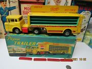 Pepsi Cola Santa Trailer Truck In Box Friction Works 1950s Japan The Holy Grail
