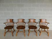 Bent Bros. Pressed Back Windsor Style Chairs - Set Of 4