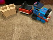 Thomas The Train Ride On With, Tracks, Charger And Brand New Battery Peg Perego