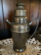 Apollo Bernard Rice's Sons Inc. E.p.n.s. Hammered Silver Plate Cocktail Shaker