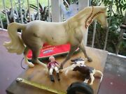 Breyer Horses Classic Lot Of 3 Different Horses One Turn Out Sheet And One Rider