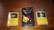 Special Delivery Pikachu 2 And Christmas Ornament New Factory Sealed Swirl Psa