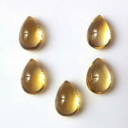 Exclusive Natural Citrine 3x5 Mm To 12x16 Mm Pear Cabochon Loose Gemstone