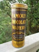 National Biscuit Company Uneeda Bakers Famous Chocolate Wafers Tin Vintage