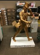 Johnnie Walker Statue - Gold - Life Size - Limited Made