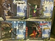 Mib Full Set Of 4 Gotham City Stories Statues Batman Catwoman Joker Harley Quinn