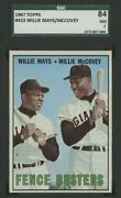 """1967 Topps Willie Mays Willie Mccovey 423 Sgc 7 """"nm"""" Giants Hof Fence Busters"""
