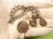 Rare Pair Of Vtg Antique Sterling Silver Charms - Telephone Operator Attendance
