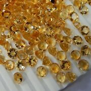 Lovely Natural Citrine 3mm To 15mm Round Faceted Cut Loose Gemstone