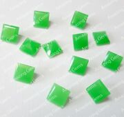 Beautiful Natural Parrot Jade 5mm To 20mm Square Faceted Cut Loose Gemstone