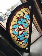 Sg3592 Two Available Price Each Antique Arch Top Stained Glass Window 29 X 59.5