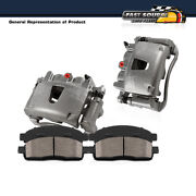 For Chevy Blazer S10 Gmc Jimmy Sonoma Front Brake Calipers Pair + Ceramic Pads