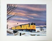 Fast Freight From Denver - Union Pacific Dd40's By Howard Fogg