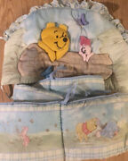 Classic 2002 Winnie The Pooh And Piglet 3-d Crib Head Frame Bumper Pads Bedding