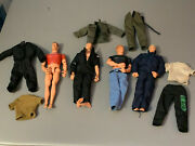 Lot Of 4 Vintage 1990's Hasbro 12 Gi Joe Action Figures Army Dolls With Clothes