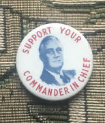 Scarce Franklin Roosevelt Fdr President Campaign Political Button Pinback Pin