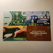 2021 Pike Place Exclusive Starbucks Gift Card+ Seattle Seahawks Washington Cards